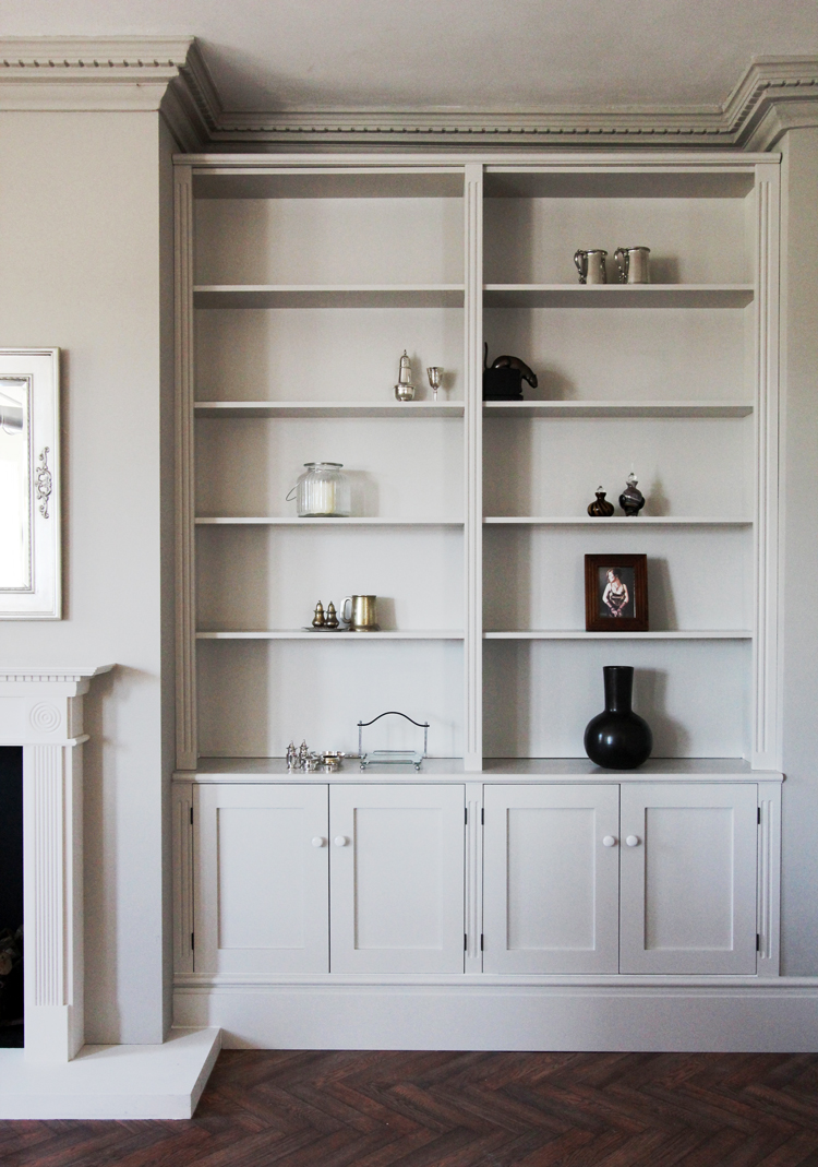 Jali bespoke alcove unit in our showroom