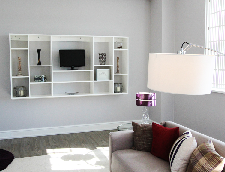 Jali bespoke Flexi shelving and shutters in our showroom