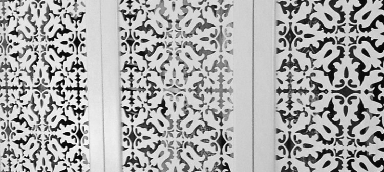 detail of Jali made-to-measure fretwork panels