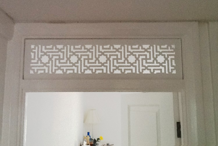 Jali bespoke fretwork panel