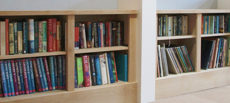 Jali bespoke bookcases in real oak veneer