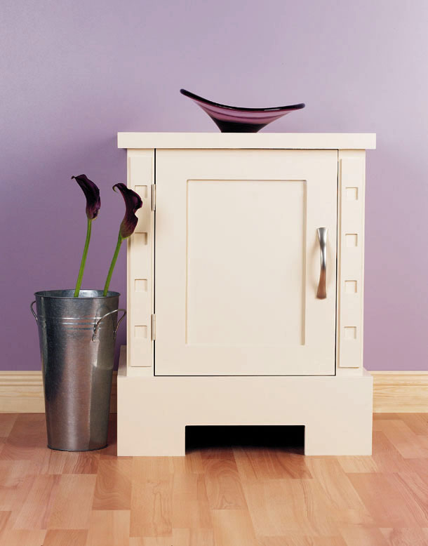 Contemporary cupboard with square details