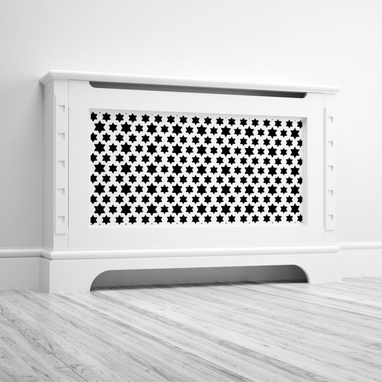 Radiator cover with star grille