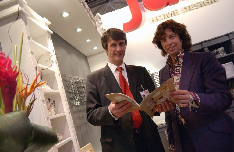Laurence Llewelyn-Bowen on the Jali stand at The Good Homes Show