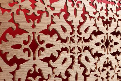 Real Oak Veneer Fretwork Panel