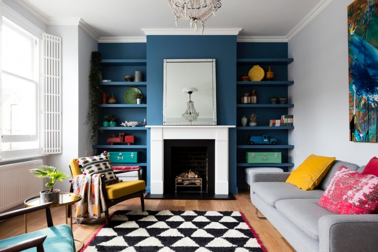Tall Contemporary Shutters featured in George Clarke's Old House, New Home on Channel 4