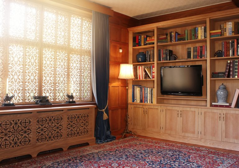 Jali Oak Furniture in a Wood Panelled Room