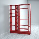 Room divider with fretwork