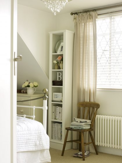 Tall Bookcase in a Bedroom