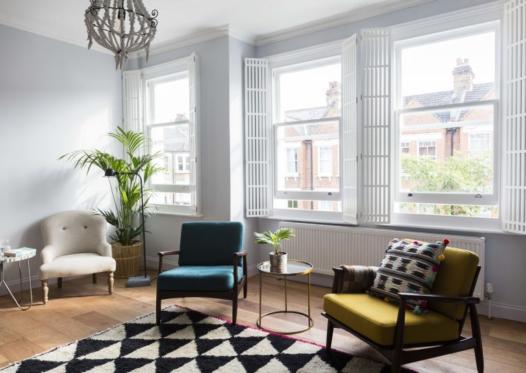 Modern White Shutters featured in George Clarke's Old House, New Home on Channel 4