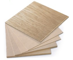 A selection of different veneers and finishes