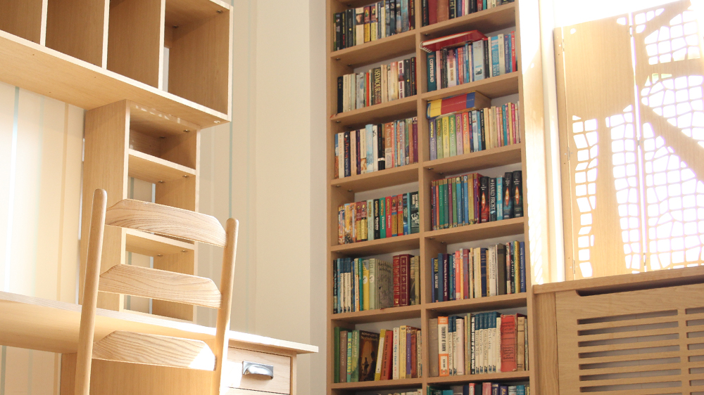 shelving units bespoke made to measure for any space. Black Bedroom Furniture Sets. Home Design Ideas